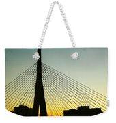 Zakim Bridge Silhouette Weekender Tote Bag