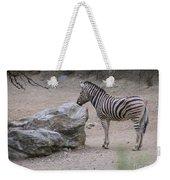 Zebra And Rock Weekender Tote Bag