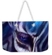 Zebra Blue Weekender Tote Bag