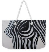 Zebra Body Paint Weekender Tote Bag
