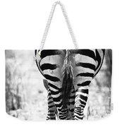 Zebra Butt Weekender Tote Bag