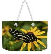 Zebra Butterfly Weekender Tote Bag