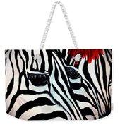 Zebra Couple Weekender Tote Bag