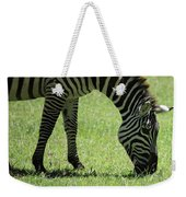 Zebra Eating Grass Weekender Tote Bag