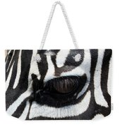 Zebra Eye Weekender Tote Bag