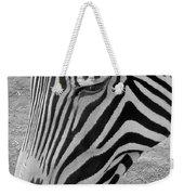 Zebra Face Weekender Tote Bag