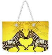 Zebra Heart Weekender Tote Bag