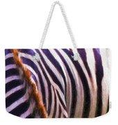 Zebra Lines Weekender Tote Bag