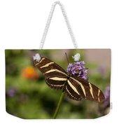Zebra Longwing Butterfly Weekender Tote Bag