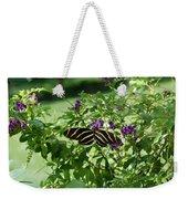 Zebra Longwing Butterfly On Flower Weekender Tote Bag