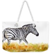 Zebra Panoramic Weekender Tote Bag