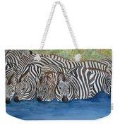 Zebra Pool Weekender Tote Bag