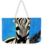 Zebra Portrait 5 Weekender Tote Bag