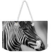 Zebra Profile In Black And White Weekender Tote Bag
