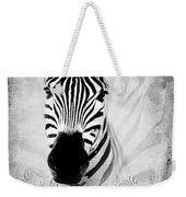 Zebra Profile In Bw Weekender Tote Bag