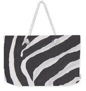 Black And White Zebra Stripes Weekender Tote Bag