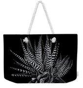 Zebra Succulent Weekender Tote Bag