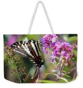 Zebra Swallowtail Butterfly At Butterfly Bush Weekender Tote Bag