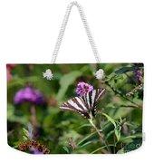 Zebra Swallowtail Butterfly In Garden Weekender Tote Bag