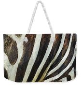 Zebra Texture Weekender Tote Bag by Ayse Deniz