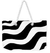 Zebra Waves Weekender Tote Bag