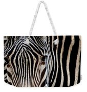 Zebras Face To Face Weekender Tote Bag