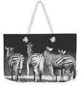 Zebras From Behind Weekender Tote Bag