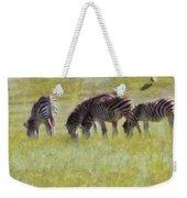 Zebras In Africa Weekender Tote Bag