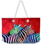Zebras In Love  Weekender Tote Bag