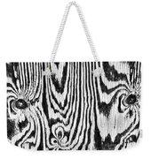 Zebras In Wood Weekender Tote Bag