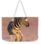 Zebras Jump From Waterhole Weekender Tote Bag