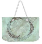 Zen Feather Circle I I Weekender Tote Bag