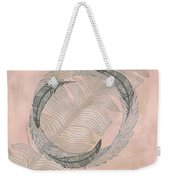 Zen Feather Circle I Weekender Tote Bag