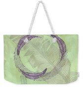 Zen Feather Circle I V Weekender Tote Bag