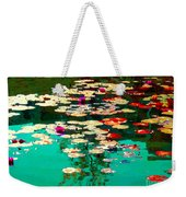 Zen Garden Water Lilies Pond Serenity And Beauty Lily Pads At The Lake Waterscene Art Carole Spandau Weekender Tote Bag