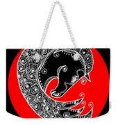 Zen Horse Black Weekender Tote Bag