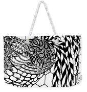 Zentangle Rooster Weekender Tote Bag