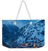 Zermatt - Winter's Night Weekender Tote Bag by Brian Jannsen