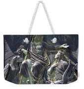 Zeus Bronze Statue Dresden Opera House Weekender Tote Bag by Jordan Blackstone