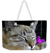Zing The Cat Sleeping Weekender Tote Bag