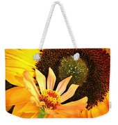 Zinnia And Sunflower Weekender Tote Bag