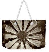Zinnia Monochrome Weekender Tote Bag
