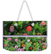 Zinnias 4 Panel Vertical Composite Weekender Tote Bag