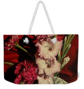 Zinnias And Gladiolas Weekender Tote Bag