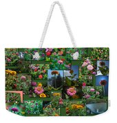 Zinnias Collage Rectangle Weekender Tote Bag