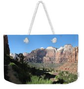 Zion Canyon View Weekender Tote Bag
