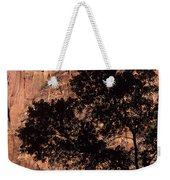 Zion National Park Canyon Walls With Silhouetted Trees In Front  Weekender Tote Bag
