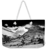 Zion National Park In Black And White Weekender Tote Bag