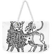 Zodiac Leo, 1482 Weekender Tote Bag