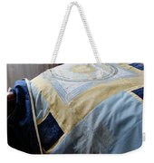 Zodiac Patchwork Quilt Weekender Tote Bag by Barbara Griffin